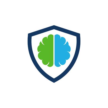 Protection Brain Logo Icon Design