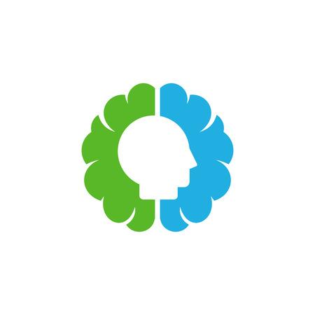 Mind Brain Logo Icon Design