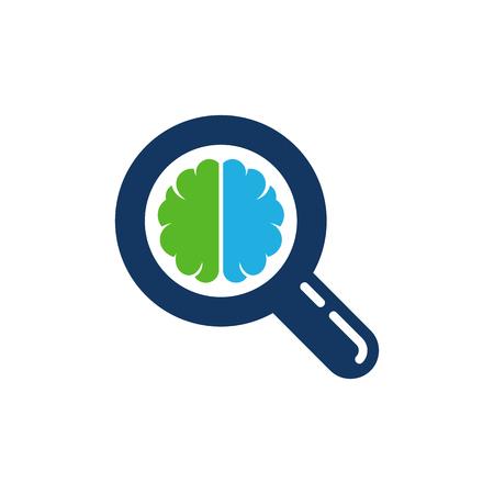 Search Brain Logo Icon Design