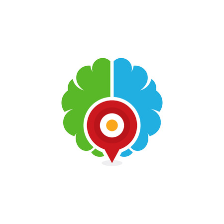 Point Brain Logo Icon Design