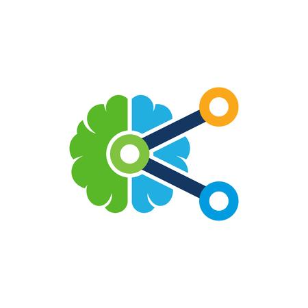 Share Brain Logo Icon Design Illustration