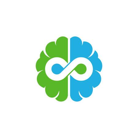 Infinity Brain Logo Icon Design