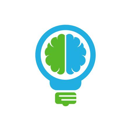 Bulb Brain Logo Icon Design Ilustrace