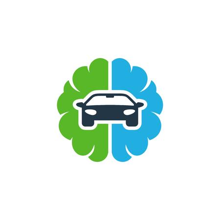 Car Brain Logo Icon Design