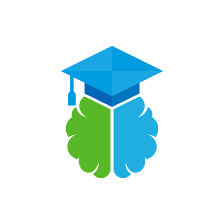 School Brain Logo Icon Design Stock Vector - 100970780