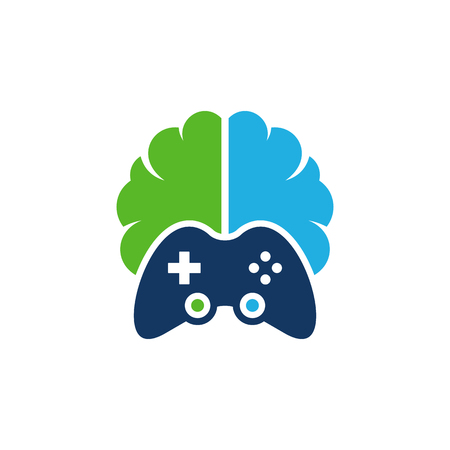 Game Brain Logo Icon Design