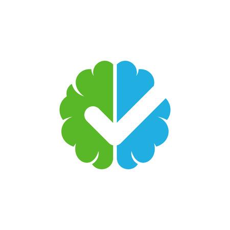 Check Brain Logo Icon Design