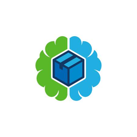 Box Brain Logo Icon Design