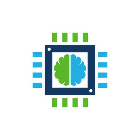 Chip Brain Logo Icon Design Stock Vector - 100970791