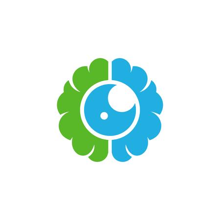 Vision Brain Logo Icon Design Illustration