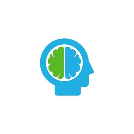 Head Brain Logo Icon Design Illustration