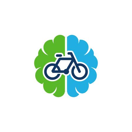 Bike Brain Logo Icon Design Stock Illustratie