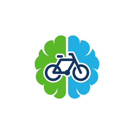 Bike Brain Logo Icon Design Illustration