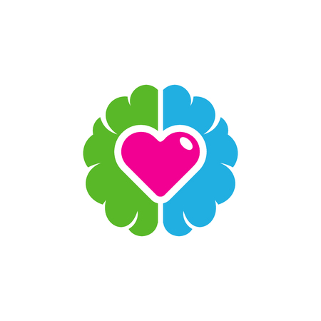 Love Brain Logo Icon Design