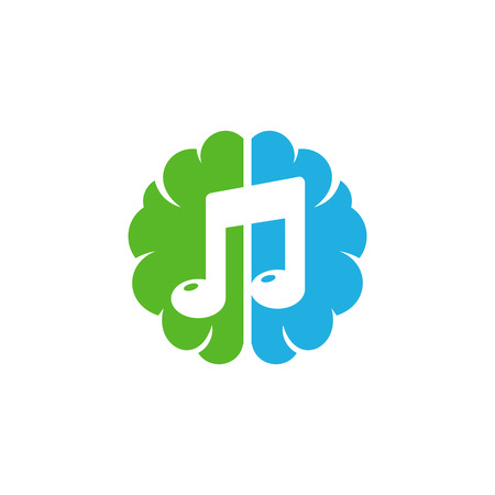 Music Brain Logo Icon Design