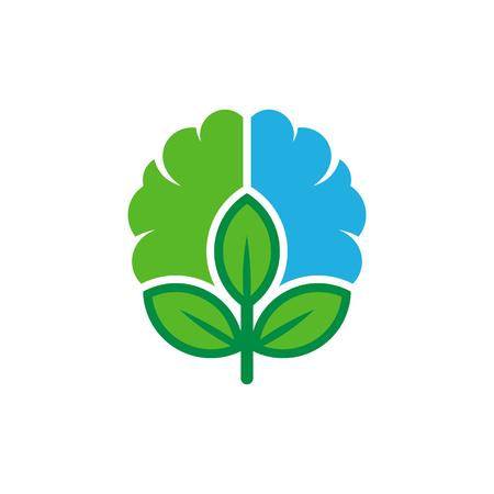 Nature Brain Logo Icon Design
