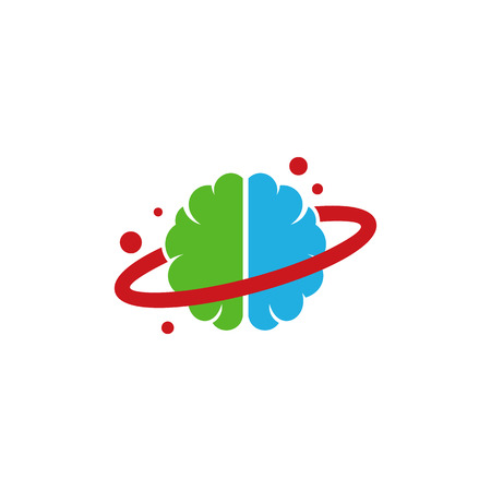 Planet Brain Logo Icon Design