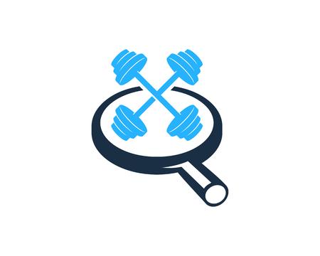Find Barbell Logo Icon Design