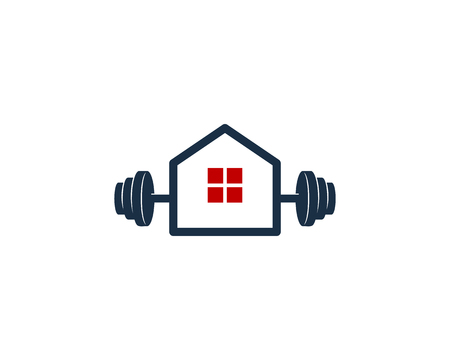 Home Barbell Icon Design illustration on white background.
