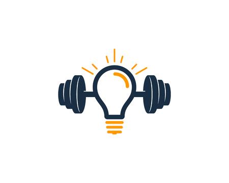 Idea Barbell  Icon Design