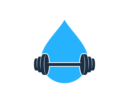 Water Barbell  Icon Design
