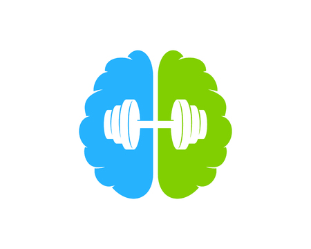 Brain Barbell  Icon Design