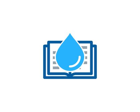Splash Book Icon Design vector illustration.