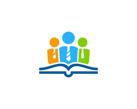 Team Book Logo Icon Design Vettoriali