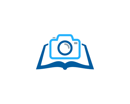 Photography Book Logo Icon Design 向量圖像