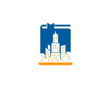 Cityscape Book Logo Icon Design
