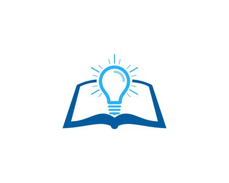 Light Concept Book Logo Icon Design