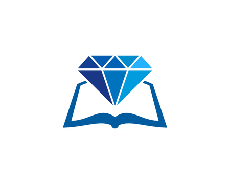 Gem Book Logo Icon Design