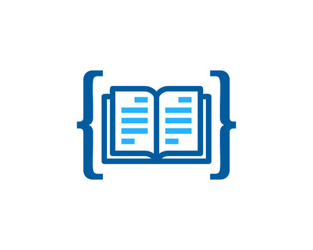 Binary Book Logo Icon Design Çizim