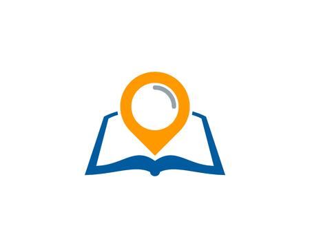Pushpin Book Logo Icon Design