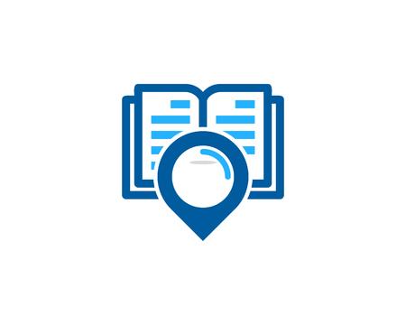 Point Book Logo Icon Design Illustration