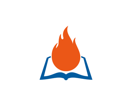 Burn Book Logo Icon Design Vettoriali