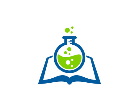 Research Book Logo Icon Design  イラスト・ベクター素材