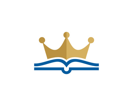 King Book Logo Icon Design