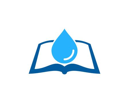 Drop Book Logo Icon Design