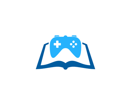 Console Book Logo Icon Design 向量圖像