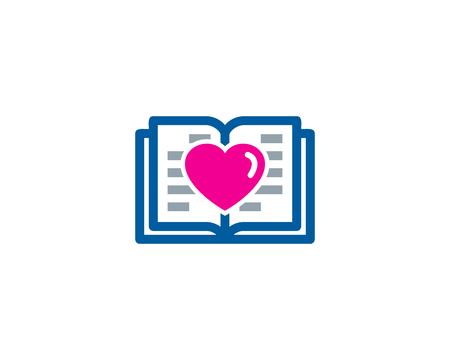 Heart Book Logo Icon Design