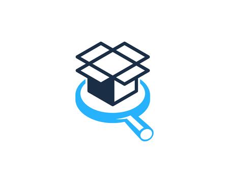 Browse Box Logo Icon Design Illustration