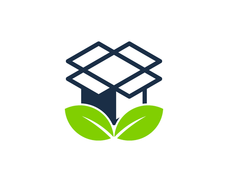Nature Box Logo Icon Design Иллюстрация