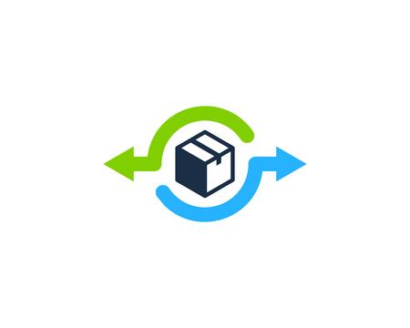 Transfer Box Logo Icon Design illustration graphic design vector