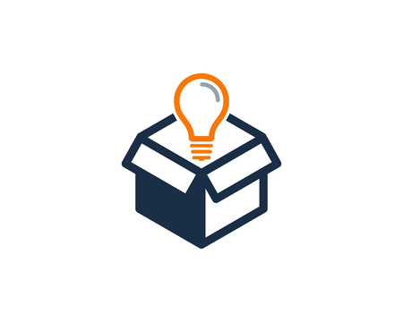 Creative Box Icon Design illustration