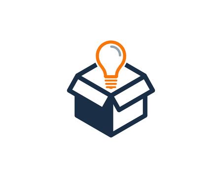 Kreative Box Icon Design Illustration Vektorgrafik