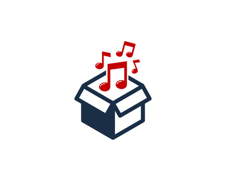 Music Box Logo Icon Design illustration graphic design vector Stok Fotoğraf - 101221686
