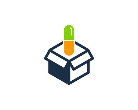 Medicine Box Logo Icon Design