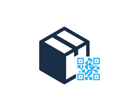 Barcode Box Logo Icon Design illustration graphic design vector Banque d'images - 101221916