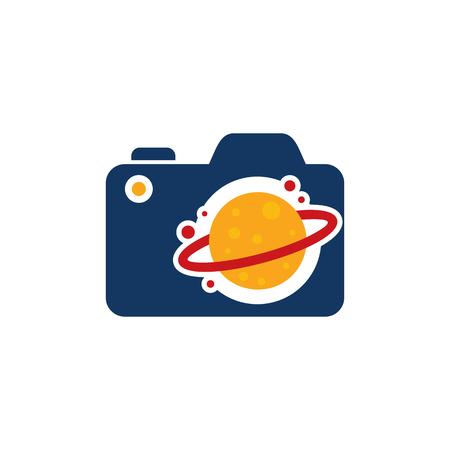 Planet Camera Logo Icon Design